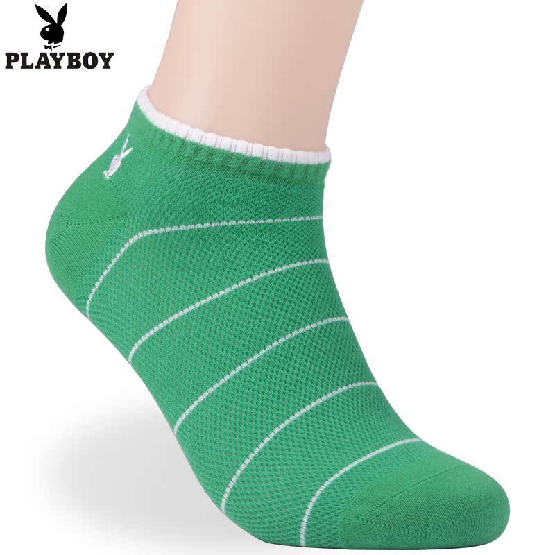 5双包邮 花花公子全透气网眼男袜 夏季船袜薄款运动短袜 透气袜子