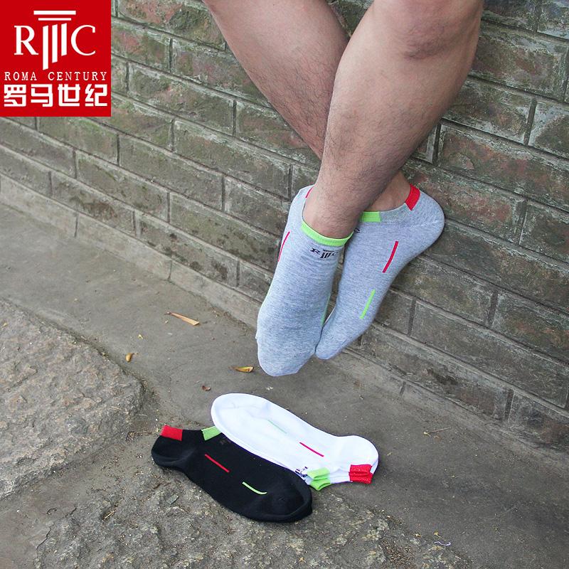 罗马世纪 男士精梳棉船袜 吸湿排汗 夏季薄款低帮短袜 防臭棉袜