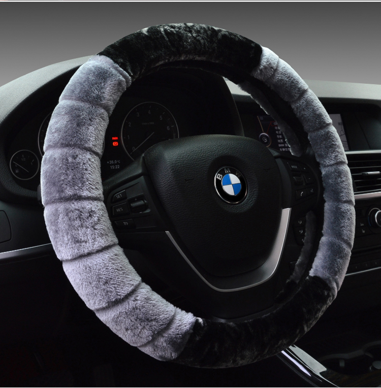 汽车方向盘套短毛绒冬季把套女东南DX3DX7菱悦V3菱致V5菱仕V6菱高清图片