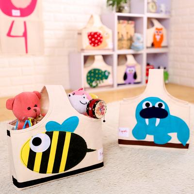 加拿大3sprouts手提妈咪包收纳篮多图案可折叠外出便携拎包玩具包