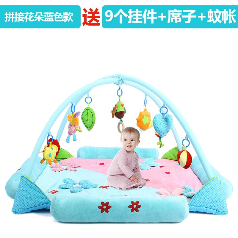 欧培宝宝游戏垫 婴儿健身架爬行垫游戏毯新生儿健身