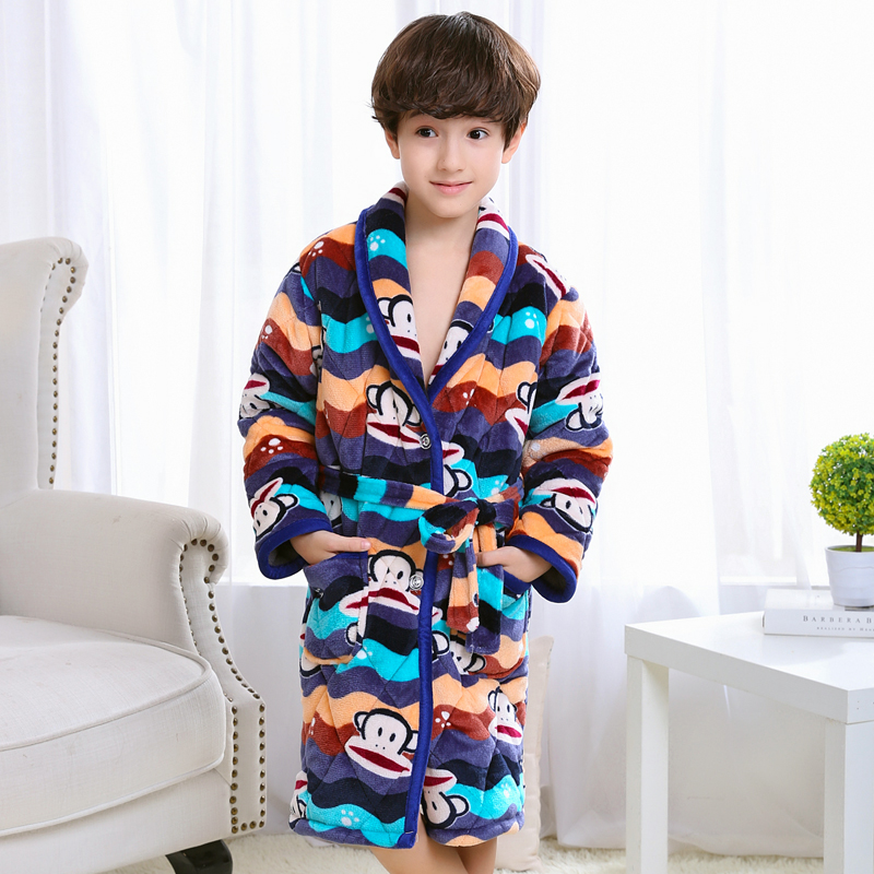 Color classification: Quilted padded robes wave monkey