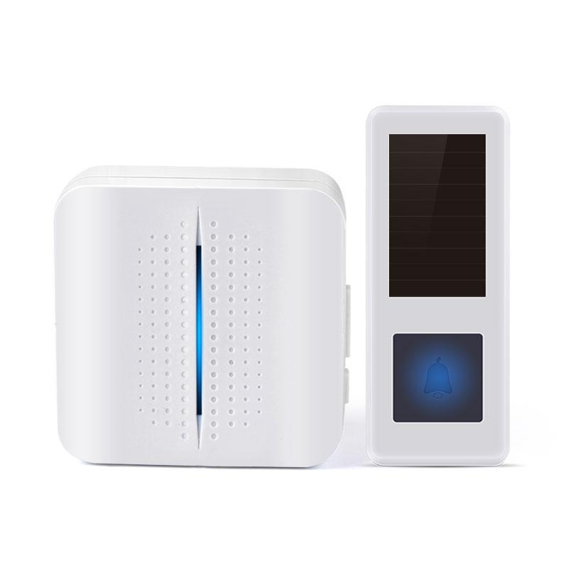 猎鹰 防水自发电门铃无线家用不用电池智能远距离电子遥控一拖二