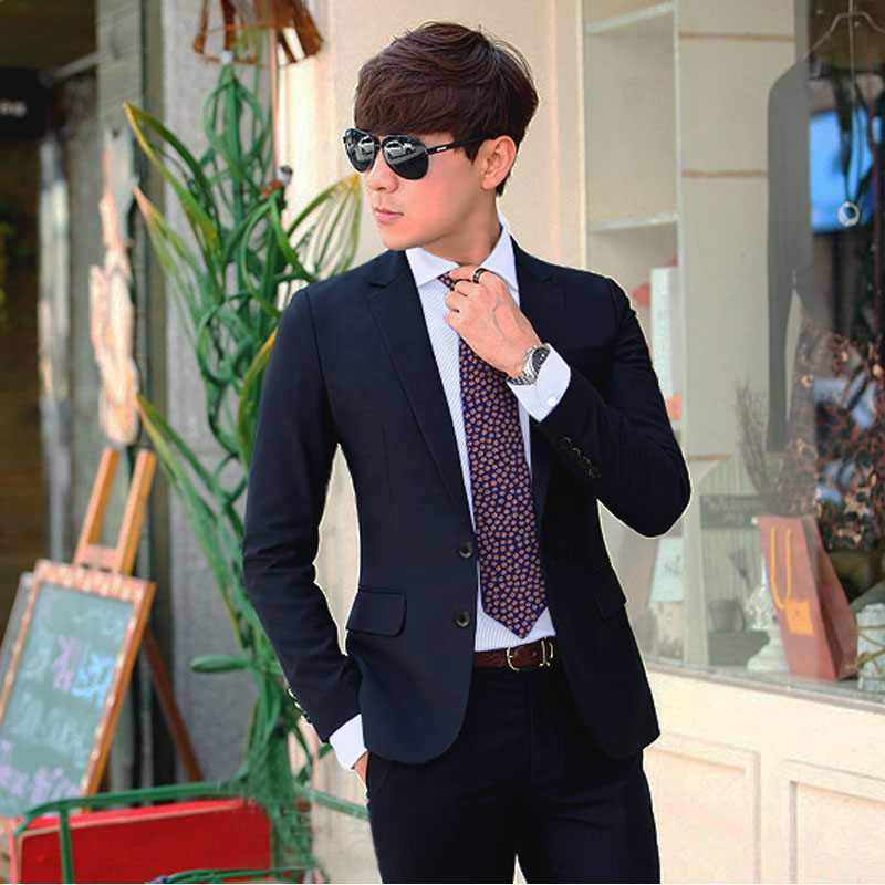 Color: Two-button Navy suit