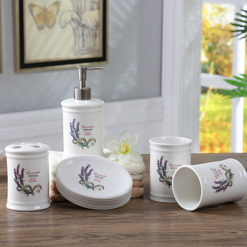 Lavender bathroom accessories