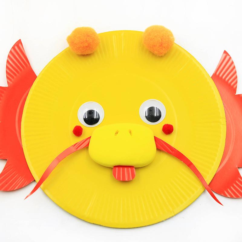 手工DIY盘子贴画 十二生肖彩色升级纸盘儿童手工制作材料包