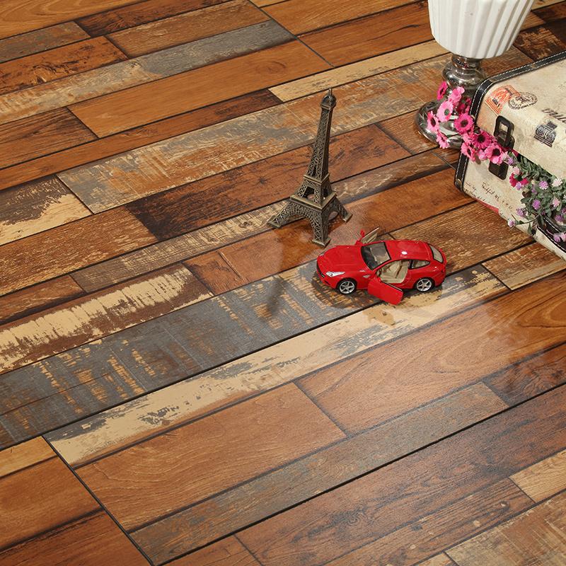 【信宏地板官网】12mm强化复合木地板彩色做旧复古店