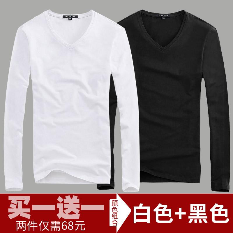 Color: V neck white + black
