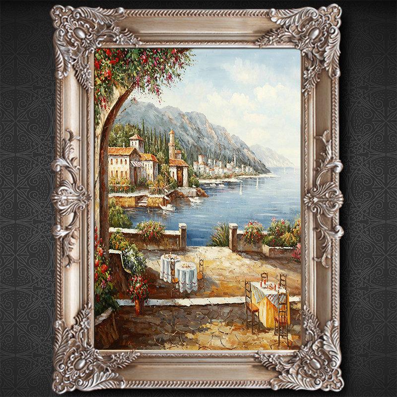 【冬进官网】冬进欧式油画纯手绘油画古典花卉装饰画