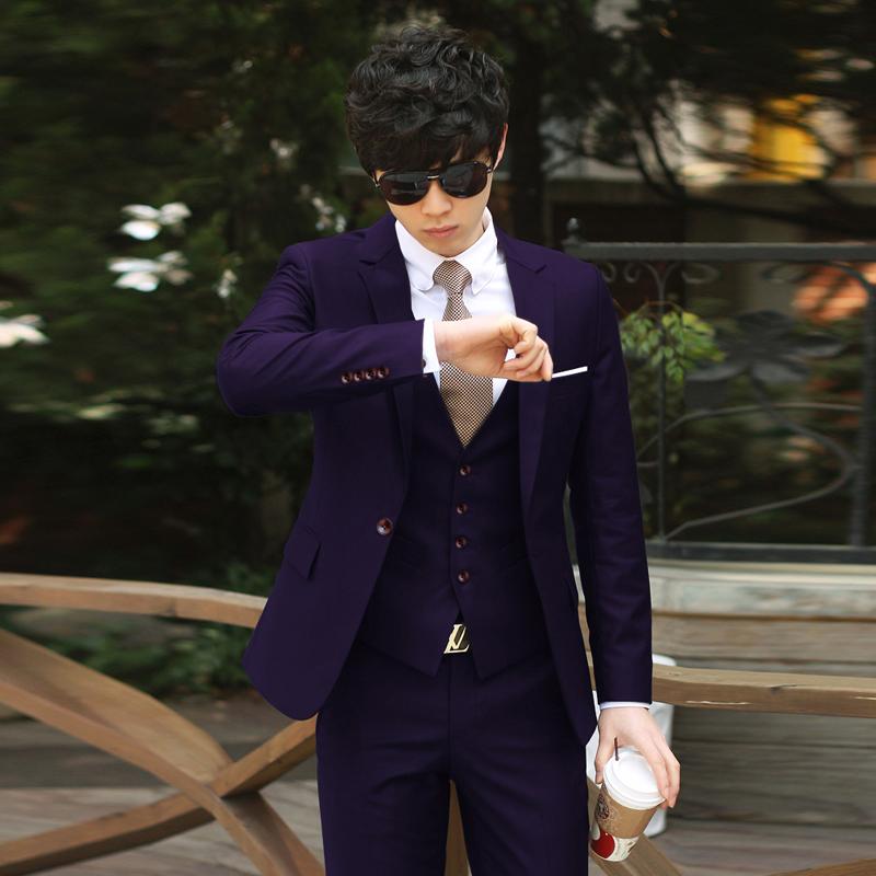 Цвет: Фиолетовый Дэна Коу (костюм + брюки + куртка)