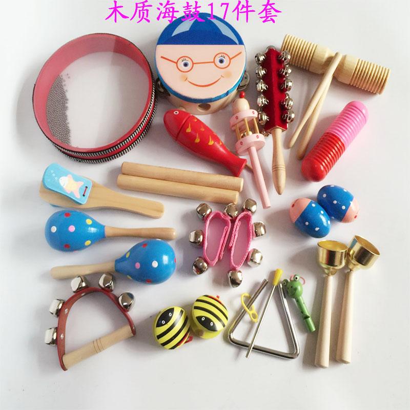 Цвет: Деревянный морской барабан набор 17