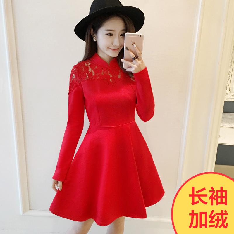 Цвет: Красный с длинным рукавом с начесом
