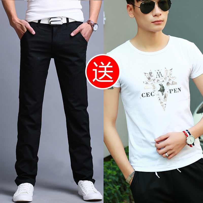 Color: 8006 black send a white t-Shirt