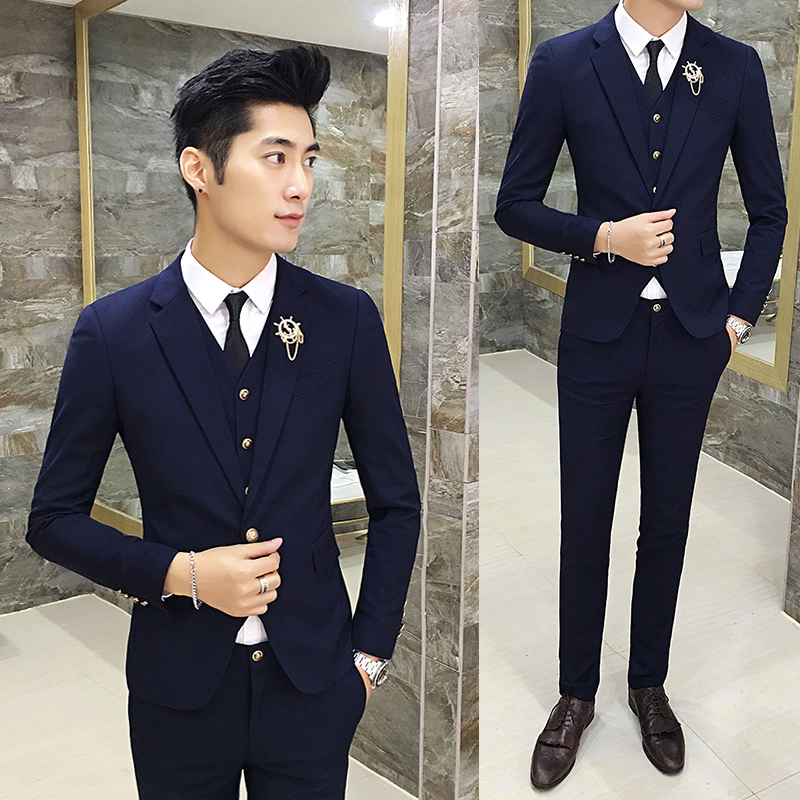 Color: Navy Blue business suit + trousers