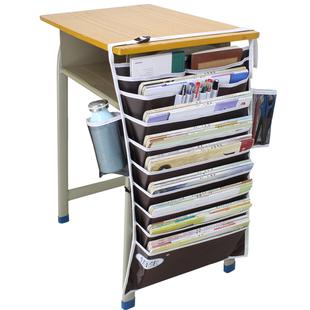 悟生课桌神器学生挂书袋课桌收纳书本高中生书立挂架书挂袋多功能
