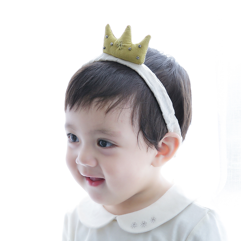 Color classification: Ginger yellow cotton Crown headband yellow
