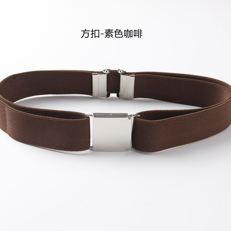 Color classification: Side buckle-plain coffee
