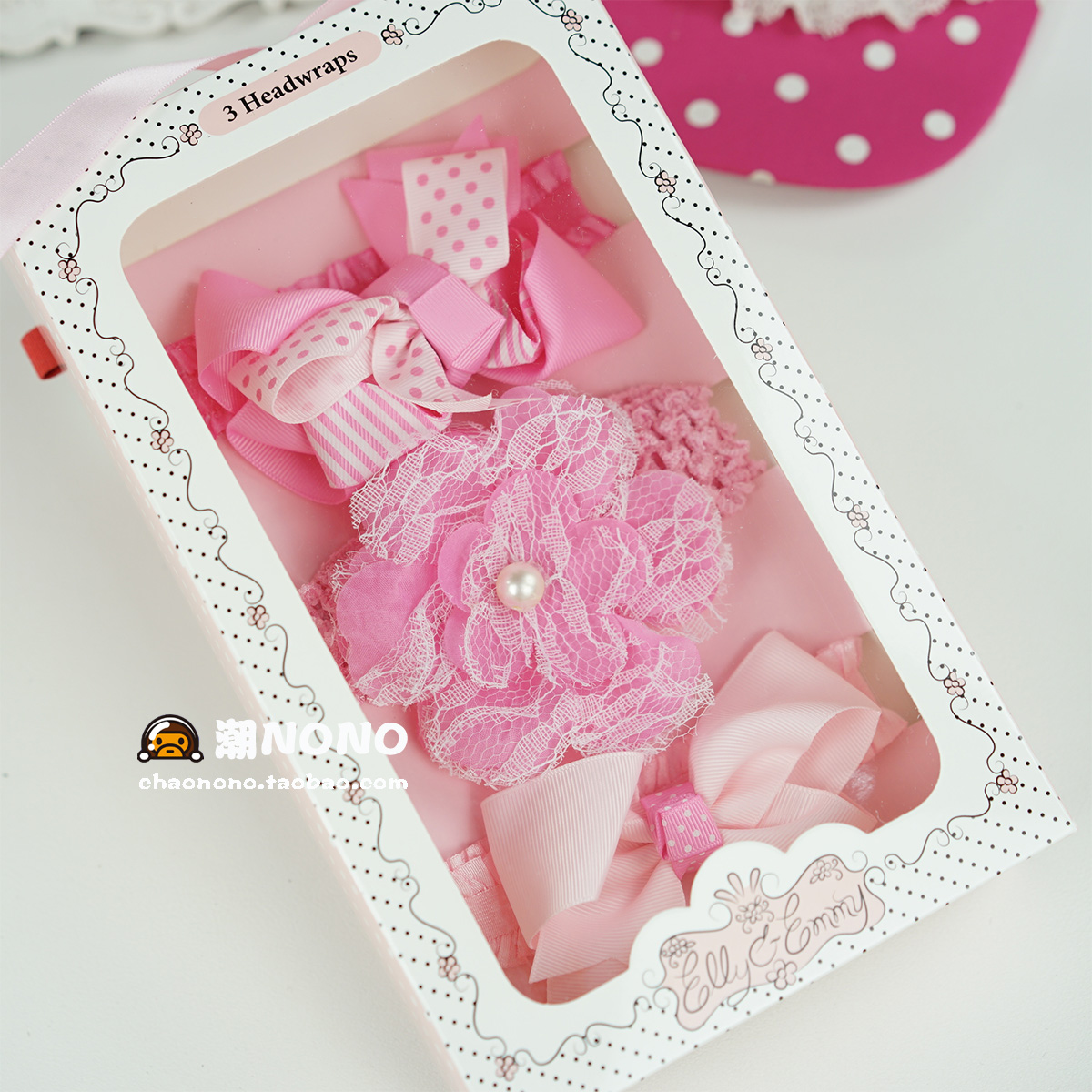 Цвет: Розовый кружевной цветок Подарочная коробка