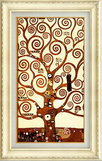 【辰榕兵宇官网】发财树欧式美式油画玄关装饰画竖版