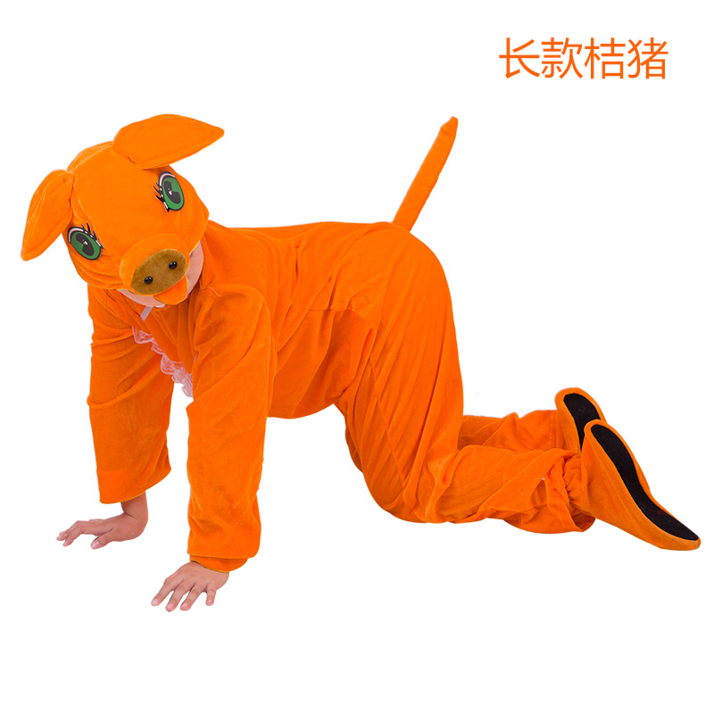 Color classification: Orange large zip around wallet Orange pig