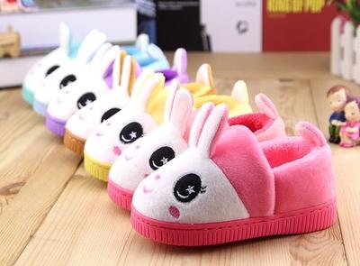 儿童棉拖鞋冬季包跟宝宝拖鞋秋冬可爱男童女童小孩鞋