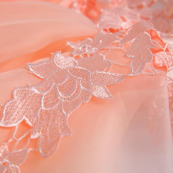 橘粉色新娘伴娘結婚敬酒服短款晚宴年會演出婚紗禮服2015新款2496