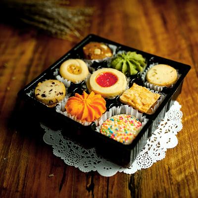 欧客家 九宫曲奇饼干好吃的饼干休闲七夕送女友零食品小吃的200g