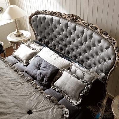 欧式床新古典实木v布艺布艺床双人床1.8米床公晨怎么家具辰图片