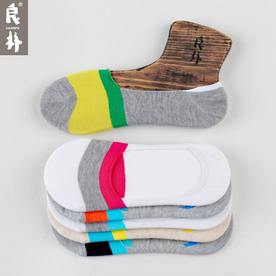 良朴男袜子夏季船袜短款男袜夏季薄款纯棉男袜隐形船袜 男士袜子