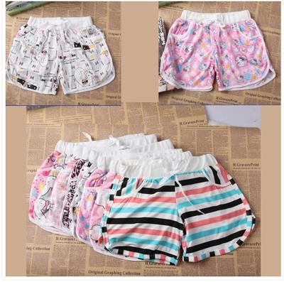 包邮特价新款夏季短裤女士纯棉睡裤短款卡通家居裤休闲短裤沙滩裤
