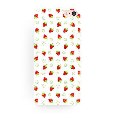 日系可爱水果草莓 原创全包软壳苹果iphone7