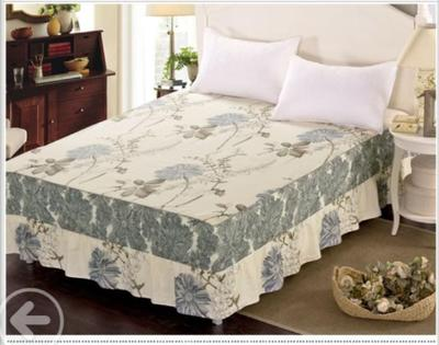 一抹清香全棉欧式床裙单价床罩纯棉床裙公主风床盖床