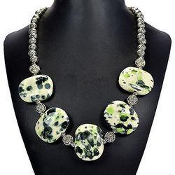海外代购 原石矿石吊坠项链 瓷器手工精美时尚奢华 女士首饰