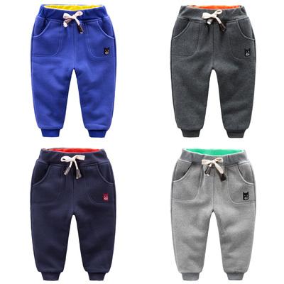 儿童休闲裤冬装 男童棉裤加绒加厚2015新款童装长裤 宝宝保暖裤子