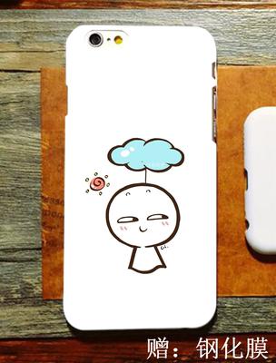 可爱手绘插画 苹果6s iphone7