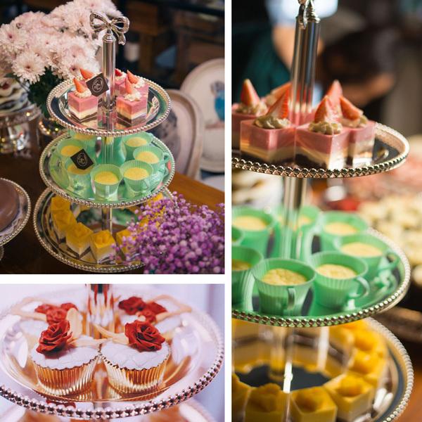特欧式金属蛋糕盘 时尚创意3层点心盘架子水果盘婚礼