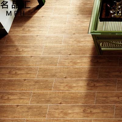 仿实木地砖 厨房客厅防滑瓷砖卧室木纹砖阳台地板砖