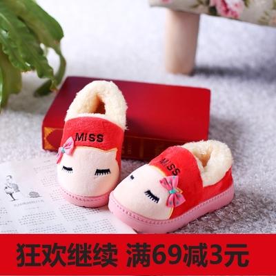 新款男女儿童拖鞋可爱卡通厚软底防滑居家外穿宝宝包
