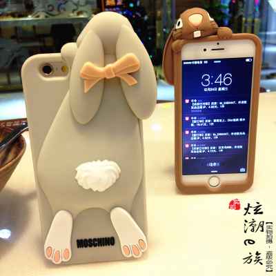 The limited edition iphone6 plus mobile phone shell apple Baoya rabbit 5S protective sleeve silicone soft 4S lovely fall