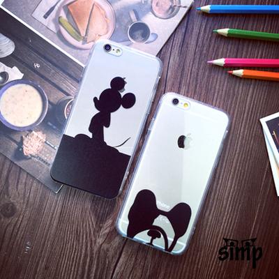 可爱狗狗iphone6手机壳苹果6s卡通保护套6plus米奇壳