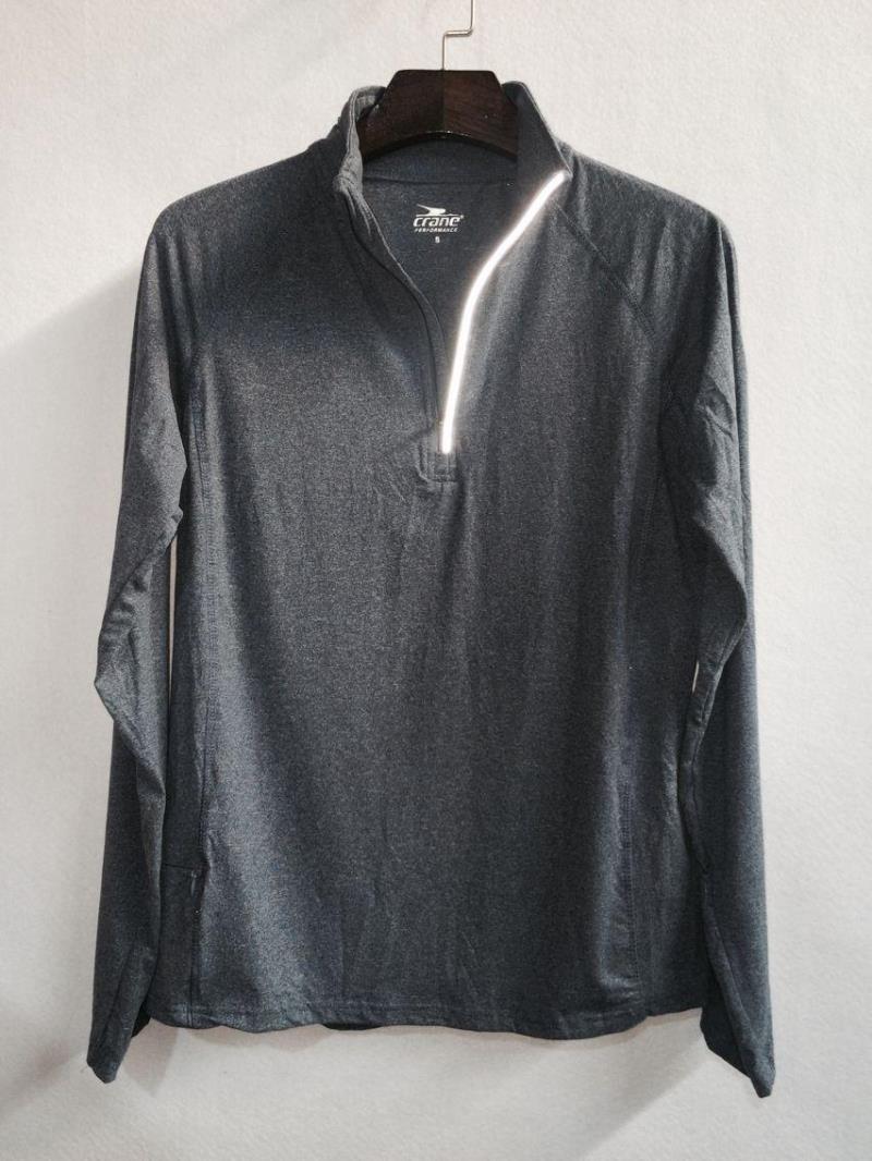 德国 鹤牌 CRANE 透气跑步训练套头反光T恤 原单正品 白菜