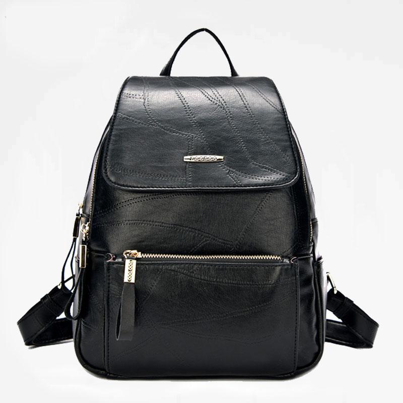 双肩包女韩版百搭大容量休闲上班旅行背包上课女生小背包