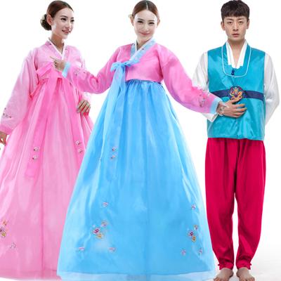 大长今演出服成人朝鲜少数民族绣花服装韩国传统舞蹈女士韩服古装