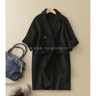 手感一流 80%羊绒双面呢 一体式立裁 翻驳领微茧廓形大衣外套