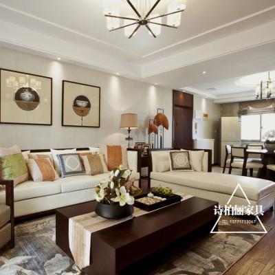 现代简约沙发新中式样板房售楼处酒店会所工程家具软