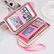 The new large-capacity lunch box ladies wallet 2017 Korean buckle long wallet can put the phone bag protective cover