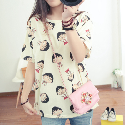 New summer clothes loose big fat MM code Maruko summer T-shirt girl students