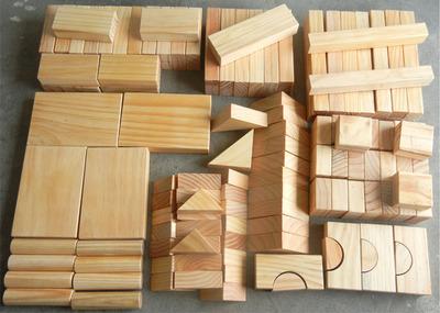 幼儿园原木色实心实木质积木大块大型超大积木制拼装