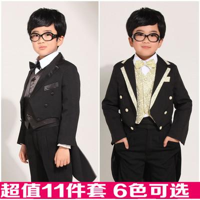 韩版秋装儿童礼服男童西装燕尾服套装男孩演出服花童