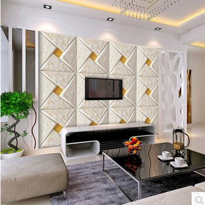 欧式软包立体大型壁画3d电视背景墙壁纸客厅卧室餐厅